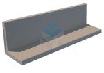 Keerwand L-vorm 750 mm hoog